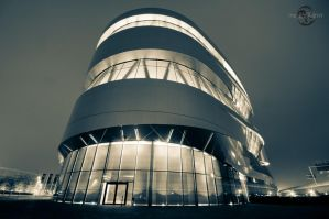 Mercedes Benz Museum at Night 02 by Creative--Dragon