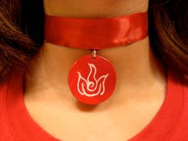 Katara's Necklace:Fire Version by pah-her-pul