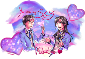 You are my sky, Valentine by PlatinaSi