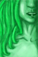 The Green Lady speed paint or sumethin by MessedUpEssy