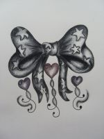 Ribbon Bow Tattoo Design by Rhianne-Almond
