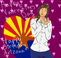 Arizona andd Valentines by bluebuterflyef
