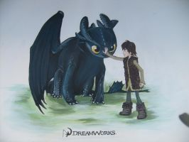 Toothless And Hiccup by PossumPip-Creations