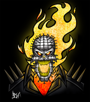 Pinheaded Ghost Rider by Berty-J-A