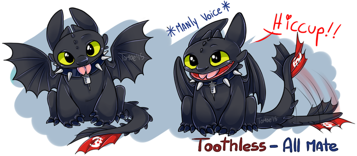.Crossover: Toothless all-mate. by Kikuri-Tan