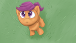 Scootaloo looking up by Bill-the-Pony