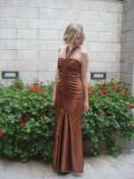 Copper Dress and Red Floweres by ArchonEquilibrium