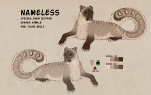 Ref sheet of Nameless by AnastasiyaVB