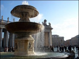 Vatican fountain by d-i-e-g-o