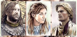 Game of Thrones mini-portraits by whu-wei