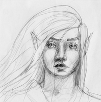 Female Elf by XCFF