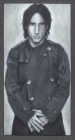 Trent Reznor- Charcoal Drawing by asunder