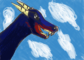 Blue Dragon by coolsarahkry