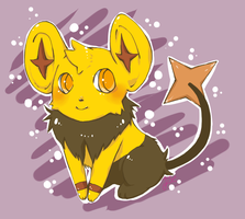 Shiny Shinx by LemonOrchid
