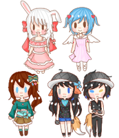Small Chibis Batch by Mitski-tan