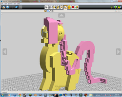 Open Source Lego FlutterShy by nhoj757