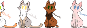 Kitty Cat Adoptables | Batch 2 | CLOSED by TurkFish