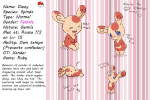Dizzy the Spinda by Zora-Moyashi