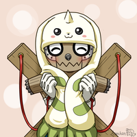 DMO: Terriermon hat by Assechan