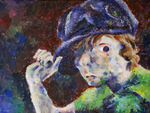 Self Portrait with Hat by Kyo-Starr