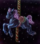 The Starchaser- Carousel Horse by TaelaDragonfox