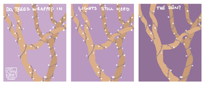 Trees Wrapped in Lights by TinySkye
