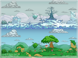 2D Parallax BG Seasonal Variants by patthompson008