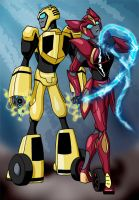 TFA:  Bumblebee and AB Sari by mystryl-shada