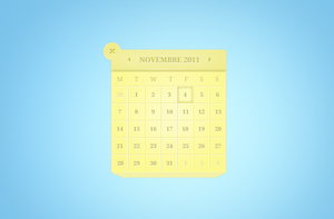 yellow fantastic calendar .psd by emrah-demirag
