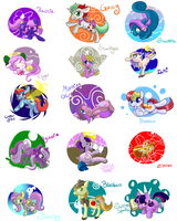 Draw all the ponies 4 by C0tt0nTales