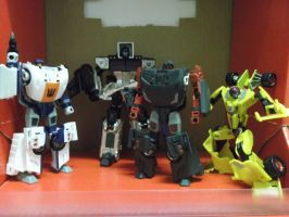 Stunticons ready to wreck the roads! by forever-at-peace