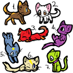 Kitty Adopts Batch 4 by jpmouse66