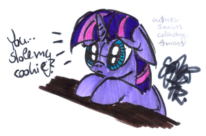 7 minute Speed-drawing (Twi cookie) by VegemiteGuzzler