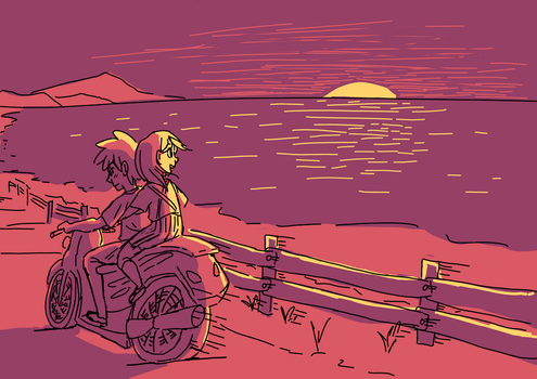 Ride By The Oceanside by RK-d