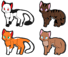 Cat Adoptables by ShadowMoss