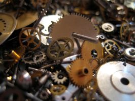 Gears cogs clockwork No.7 by redrockstock