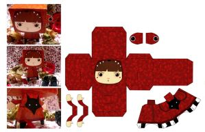 paperToys Little red riding..5 by RozennB