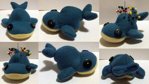 Whale Pincushion by MoonWhing