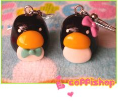 Penguins earrings by coffishop