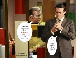 Kirk and Don Draper by Therese-B