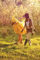 Walking with my Chocobo by NightNike