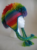 Rainbow Mohawk Hat by djonesgirlz