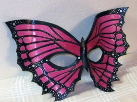 Bubblegum Pink Butterfly Mask by Lady-Cass