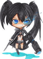 Black Rock Shooter Chibi by cacoxima