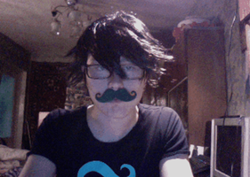 John Egbert moving moustache cosplay gif by Dead-Batter