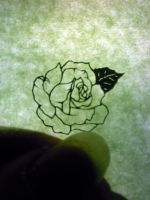 paper ctting tiny rose by Thessatoria