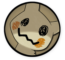 Interest Button - Mimikyu by TheInterestButtons