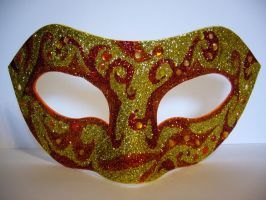 Fire ~ Masquerade Mask by SapphireSoul102