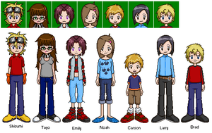 Digimon Hero's Cast by Paralyzed-Fool