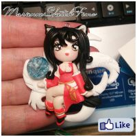 Pendant - Ahri from League of Legends (Chibi) by DarkettinaMarienne